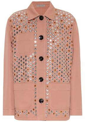Bottega Veneta Embellished cotton-blend jacket