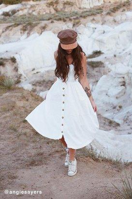 Cooperative Emilia Linen Button-Down Midi Dress $79 thestylecure.com