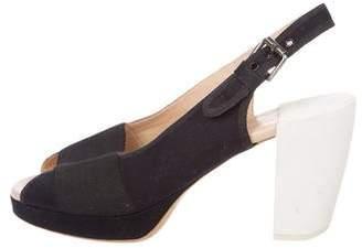 Dries Van Noten Canvas Slingback Sandals