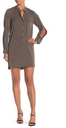 BCBGeneration Cold Shoulder Shirt Dress