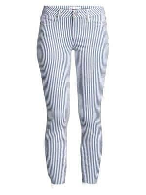Paige Skinny-Fit Crop Stripe Jeans