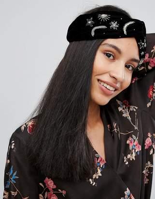 Orelia Embellished Wide Headband