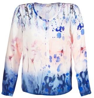 Cream PILI women's Tunic dress in Blue