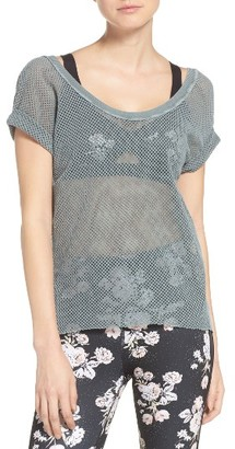 Women's Free People Hot Stuff Mesh Tee $58 thestylecure.com