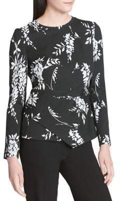 Calvin Klein Jacquard Angle-Hem Top