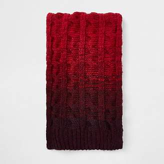 River Island Red ombre knit scarf