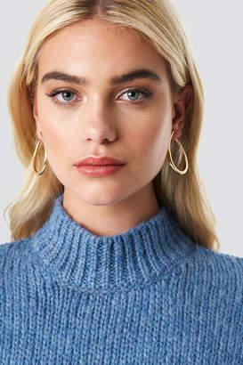 Na Kd Classic Open Top Hoop Earrings Gold