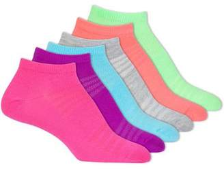 Danskin Ultralite NoShow Socks, 6 Pack