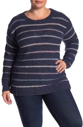 Susina Striped Boucle Sweater (Plus Size)