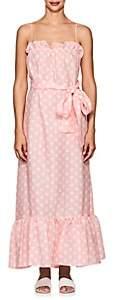 Lisa Marie Fernandez Women's Liz Polka Dot Linen Maxi Dress - Pink
