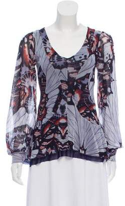 Jean Paul Gaultier Soleil Long Sleeve Printed Blouse