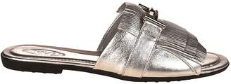 Tod's Tods Double T Fringed Slides