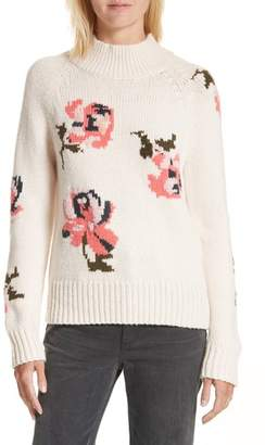 Women's Rebecca Taylor Intarsia Floral Knit Sweater