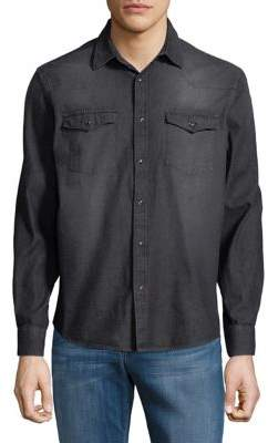 Black & Brown Black Brown Western Denim Button-Down Shirt