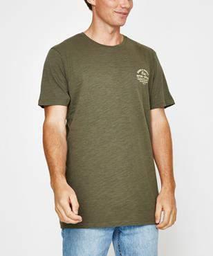 rhythm Down Under T Shirt Olive