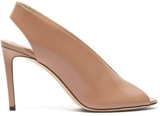 Jimmy Choo Shar 85 Slingback Leather Sandals - Womens - Nude