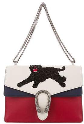 Gucci 2016 Panther Embroidered Medium Dionysus Bag