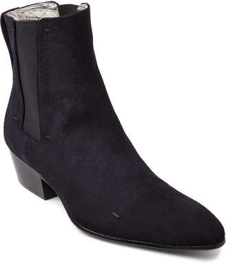 Rochas Navy Suede Chelsea Boots