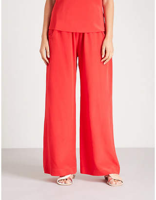 WORME The Standard Flare flared silk crepe de chine trousers