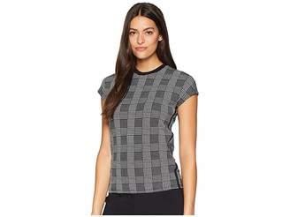 Lauren Ralph Lauren Plaid Jersey T-Shirt Women's T Shirt