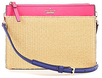 kate spade new york Cameron Street Collection Clarise Straw Cross-Body Bag $198 thestylecure.com