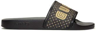 Gucci Black Sega Guccy Pursuit Slides