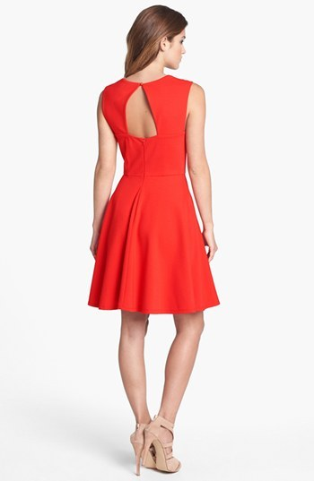 Betsey Johnson Cutout Fit & Flare Dress