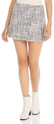 Aqua Tweed Mini Skirt - 100% Exclusive