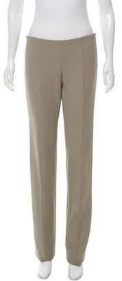 Narciso Rodriguez Mid-Rise Straight-Leg Pants