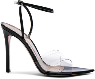 Gianvito Rossi Patent & Plexi Ankle Strap Stark Sandals