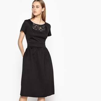 d08f805f77 at La Redoute · MADEMOISELLE R Lace Detail Midi Dress
