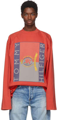 Vetements Red Tommy Hilfiger Edition Print T-Shirt