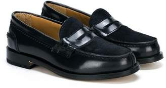Gallucci Kids pony-hair penny loafers