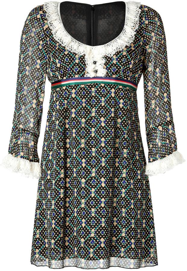 Anna Sui Dress in Black Multi