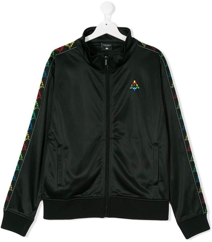 Marcelo Burlon County Of Milan Kids x Kappa logo stripe track jacket