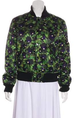 Givenchy Pansy Print Bomber Jacket