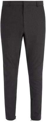 Lanvin Slim-leg wool-blend ankle-zip trousers