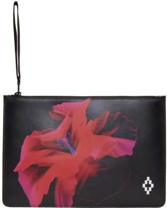 Marcelo Burlon County of Milan Black Flower Pouch