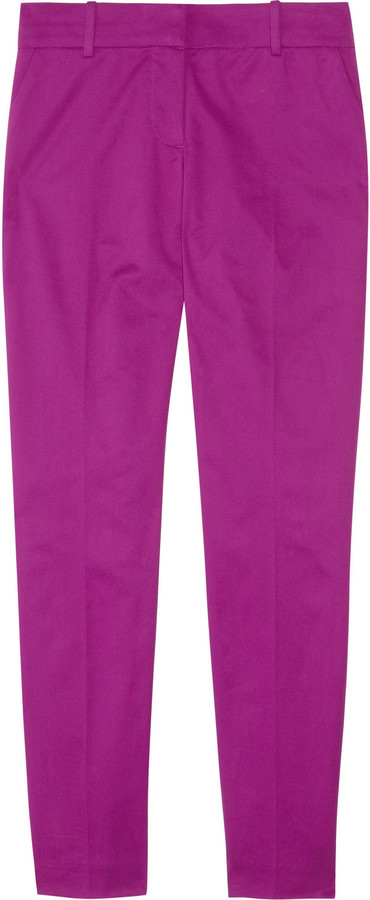 J.Crew Café stretch-cotton Capri pants