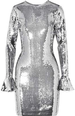 MICHAEL Michael Kors Sequined Stretch-chiffon Mini Dress