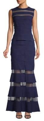 Tadashi Shoji Pleated Sleeveless Gown