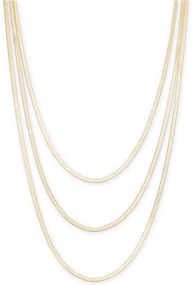 "Thalia Sodi Thali Sodi Gold-Tone Graduated Herringbone Layered Necklace, 30"" + 3"" extender, Created for Macy's"