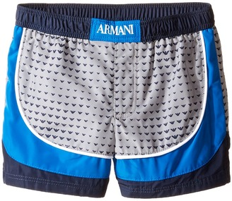 Armani Junior - Logo Printed Swimsuit Boy's Swimsuits One Piece $110 thestylecure.com