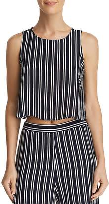 Aqua Striped Cropped Tank - 100% Exclusive
