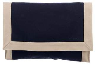 Hermes Embroidered Toile Clutch