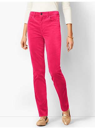 Talbots High-Rise Straight-Leg Velveteen Pants - Solid