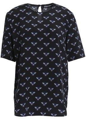 Markus Lupfer Printed Silk Crepe De Chine Top