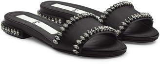 N°21 N21 Embellished Satin Sandals