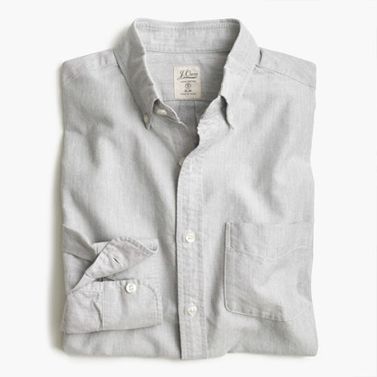 J.Crew Tall vintage oxford shirt in heathered cotton