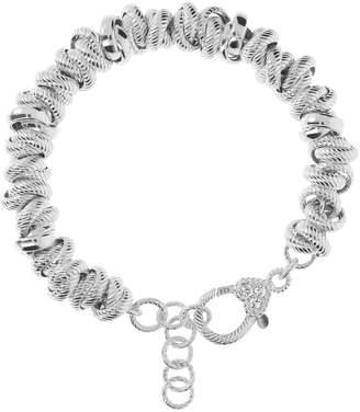 Judith Ripka Verona Sterling Circle Bracelet 34.0g